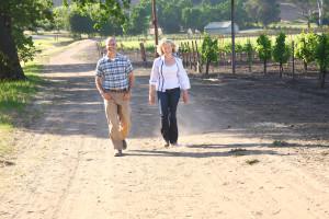 David and Katharine in vineyard - photo by Sam Aslanian